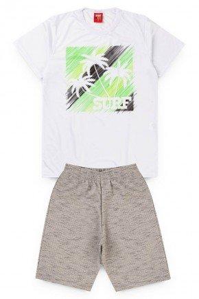 conjunto juvenil menino shot camisa branco