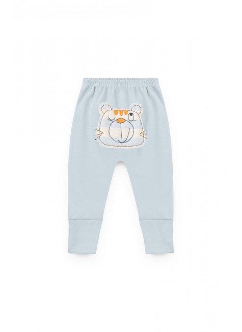 calca azul gato piradinhos