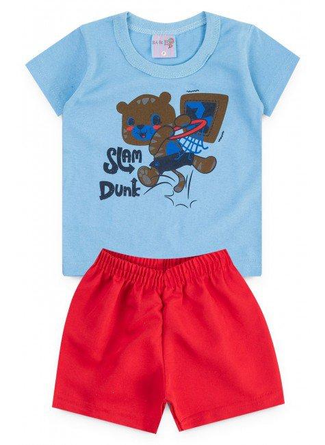 conjunto azul verao urso piradinhos