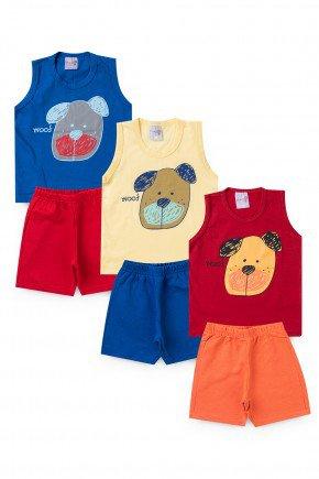 conjunto colorido urso piradinhos