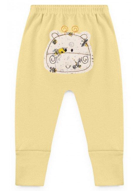 calca amarelo bebe piradinhos bordado