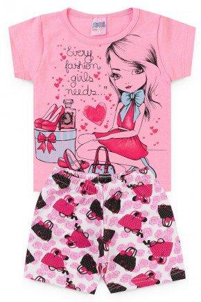 conjunto rosa menina piradinhos