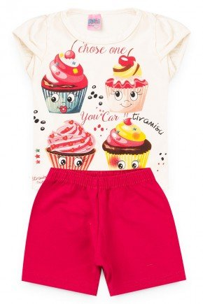 conjunto cru cupcake piradinhos