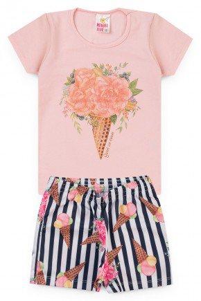 conjunto rosa sorvete piradinhos