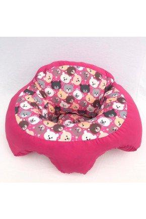 suporte bebe urso rosa piradinhos