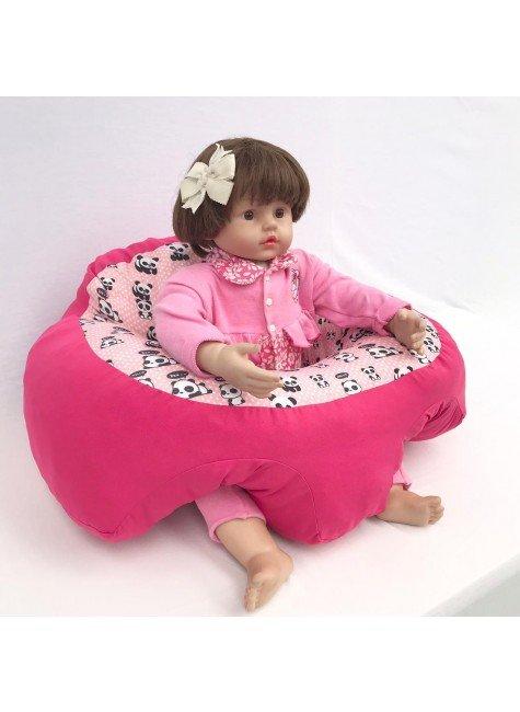 suporte bebe rosa panda piradinhos