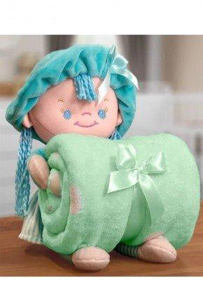 boneca verde piradinhos