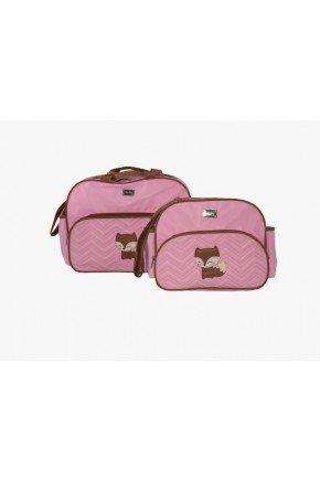 raposa bolsa rosa maternidade piradinhos
