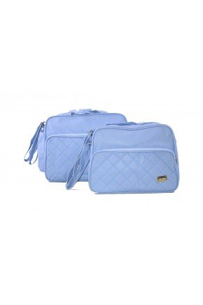 kit azul bolsa piradinhos