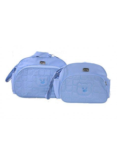 kit azul bolsa urso piradinhos
