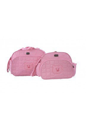 kit urso rosa piradinhos