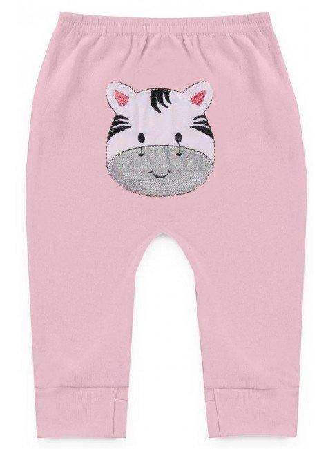 calca rosa zebra piradinhos