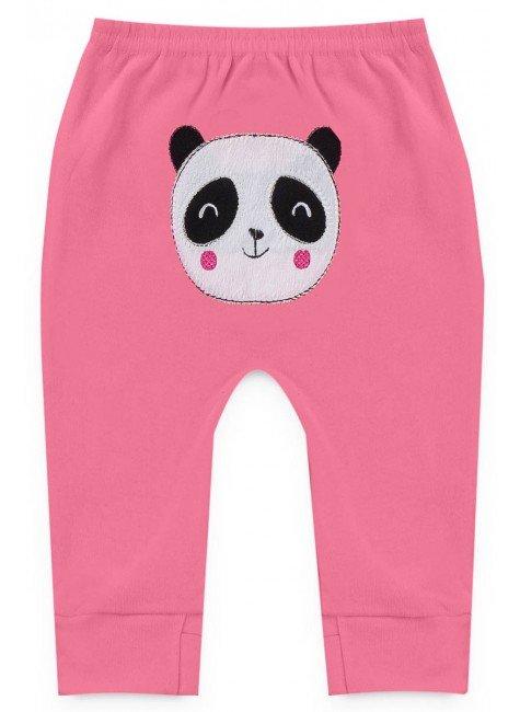 calca pink panda piradinhos