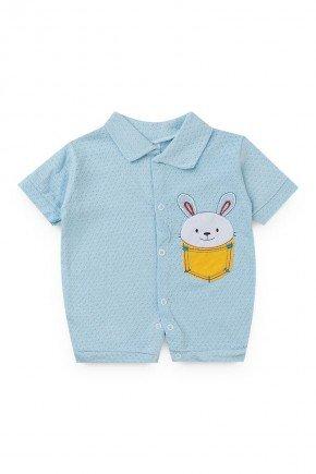 macacao azul coelho piradinhos