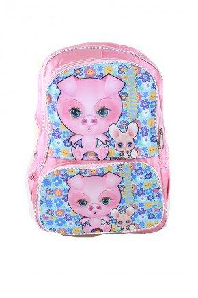 mochila porquinho piradinhos rosa
