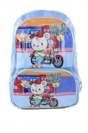 mochila azul ratinho piradinhos
