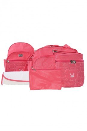 kit pink piradinhos urso