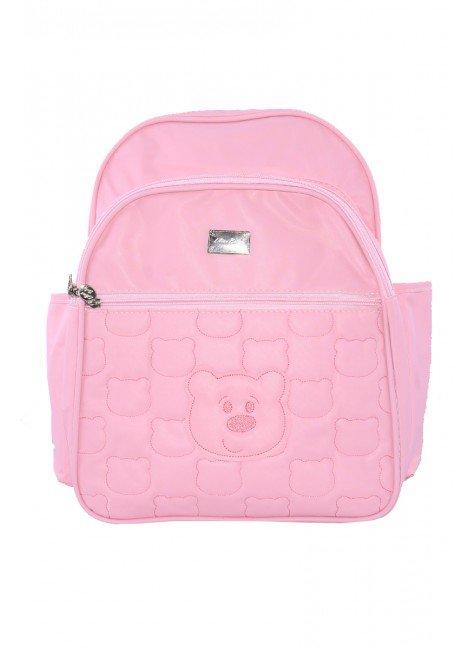 mochila maternidade urso rosa piradinhos