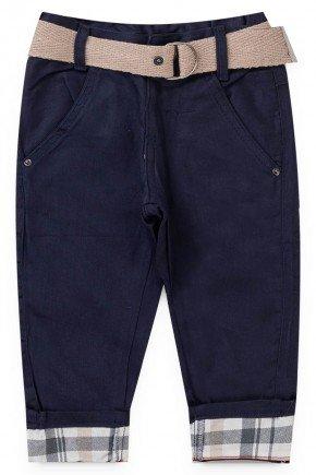 calca sarja marinho piradinhos