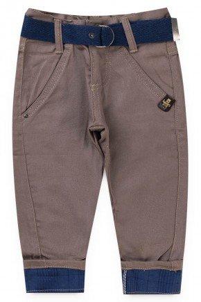 calca marrom sarja piradinhos