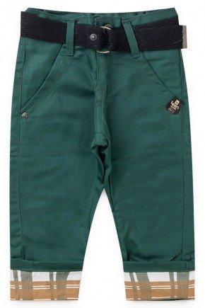 calca verde sarja piradinhos
