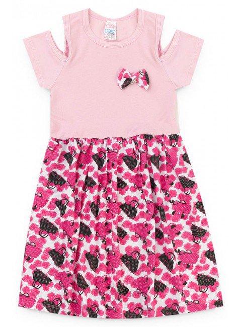 vestido rosa flores piradinhos