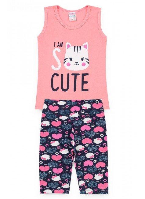 conjunto gato rosa piradinhos