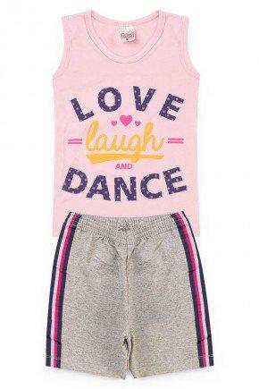 conjunto rosa love piradinhos menina