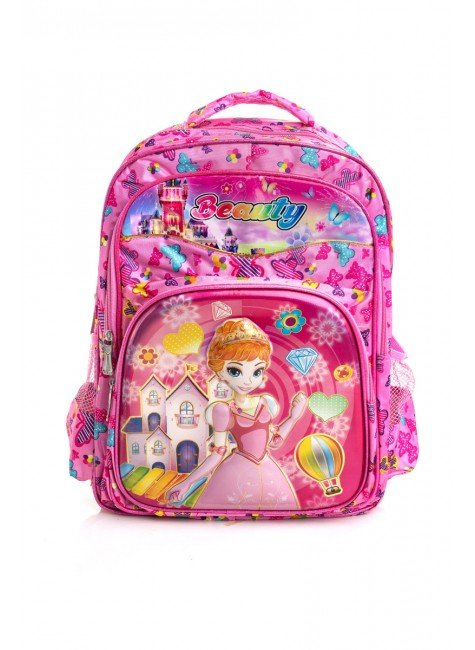 mochila pink princesa piradinhos