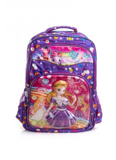 mochila roxo princesa piradinhos