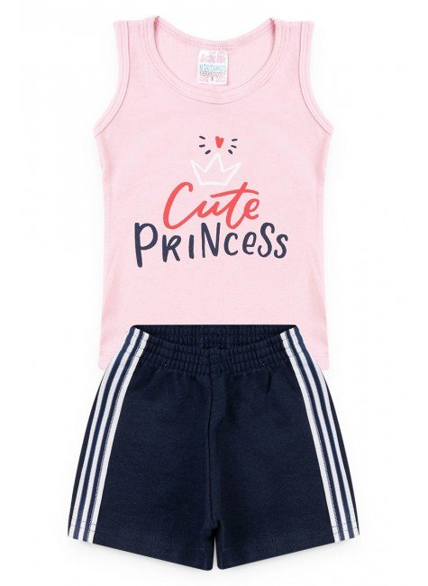 conjunto rosa cute princess regata piradinhos