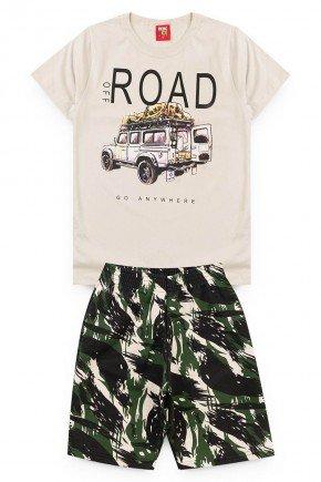 conjunto road branco juvenil camiseta short piradinhos
