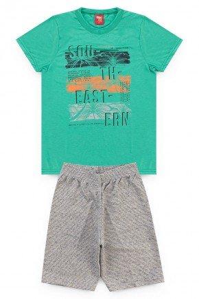 conjunto hortela palmeira camiseta short piradinhos