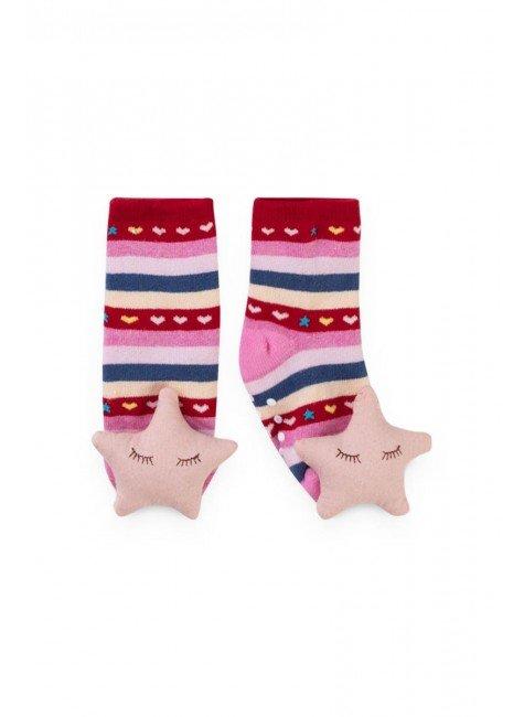 meia estrela rosa piradinhos menina infantil