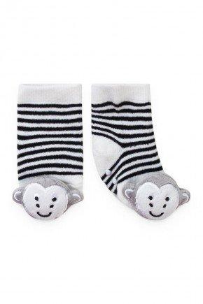 meia macaco pirdinhos branco marinho menino infantil bebe