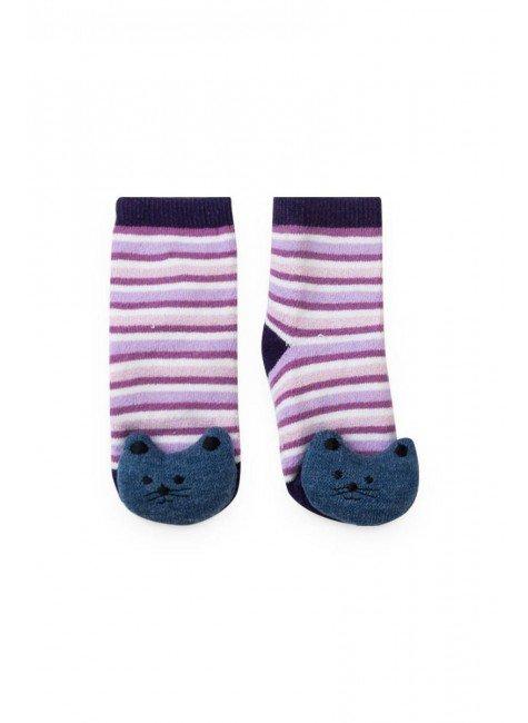 meia listrado gato piradinhos lilas roxo piradinhos