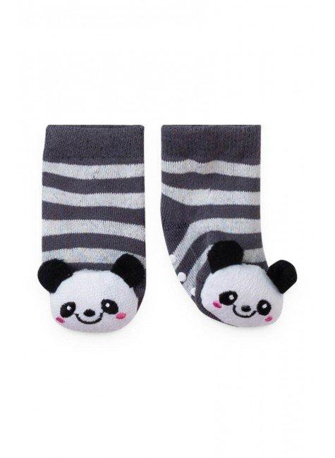 meia panda listrado piradinhos inverno bebe infantil