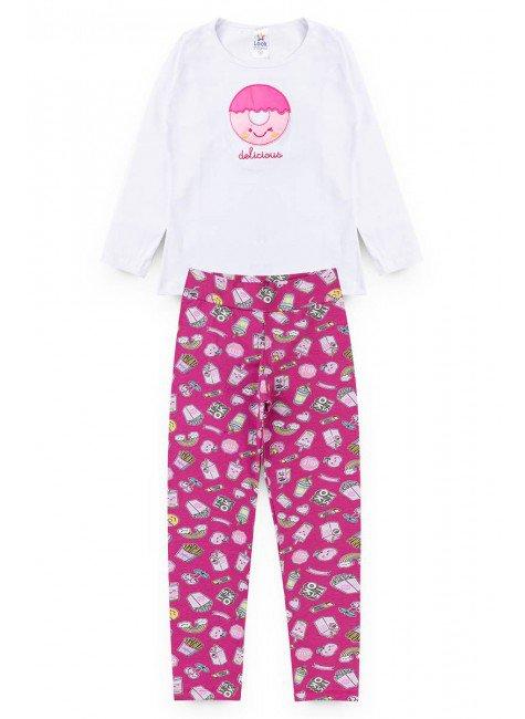 conjunto branco pink doce piradinhos menina