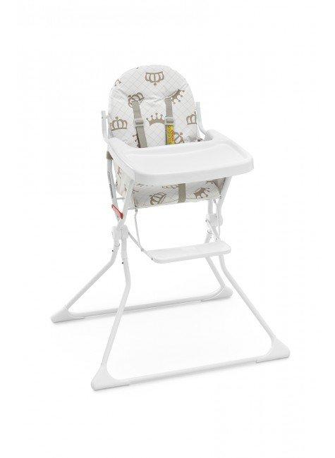 cadeirinha branco bebe piradinhos coroa