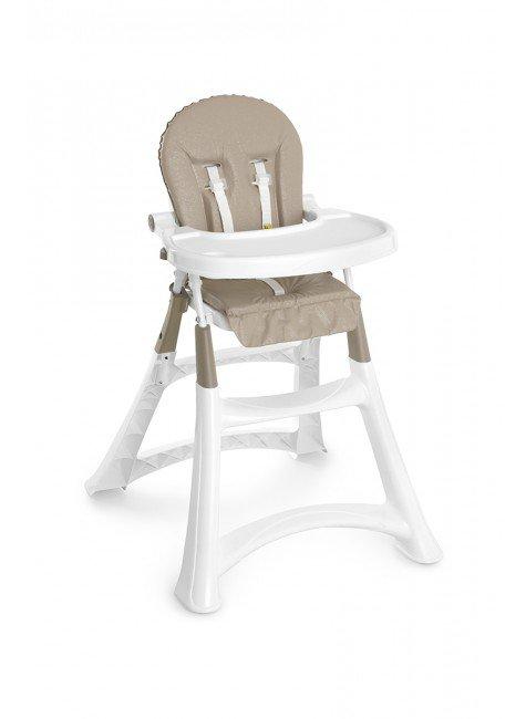 cadeira bege piradinhos bebe alimentacao