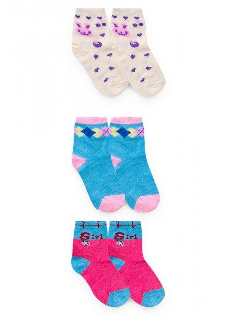 kit meia pr piradinhos menina inverno bebe