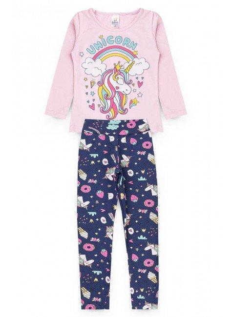 conjunto unicornio rosa piradinhos