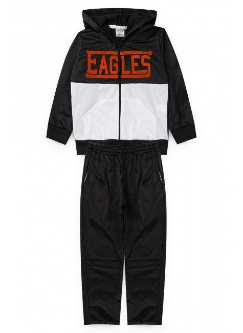 conjunto preto nba eagles piradinhos infantil menino inverno