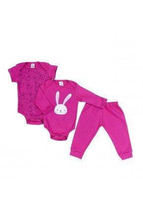 kit body pink piradinhos