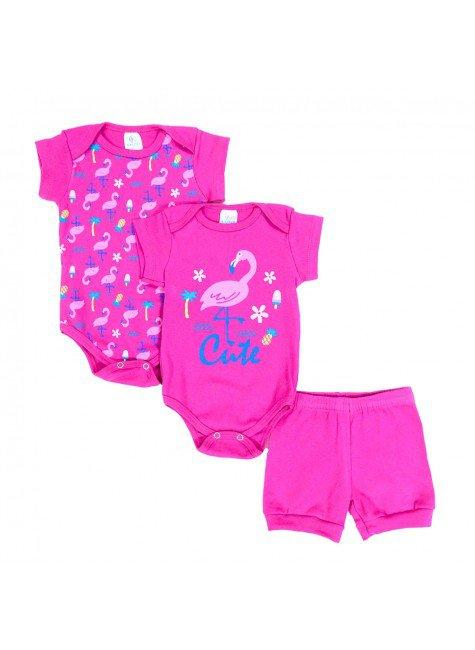 conjunto kit body pink piradinhos