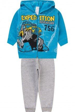 conjunto azul piradinhos menino moletom inverno