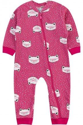 macacao pink gata piradinhos menina inverno