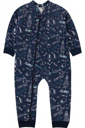 macacao astronauta piradinhos infantil marinho inverno