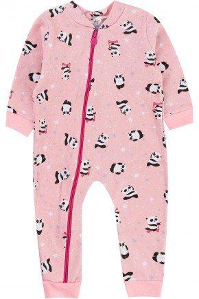 macacao panda piradinhos inverno rosa menina infantil