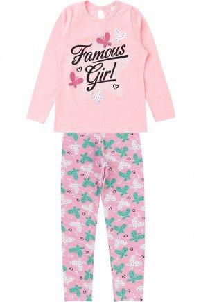 conjunto piradinhos infantil inverno menina rosa